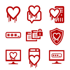 IT security and software bug icons