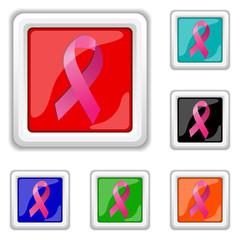 Breast cancer ribbon icon