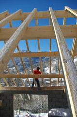 construction de maison - charpente