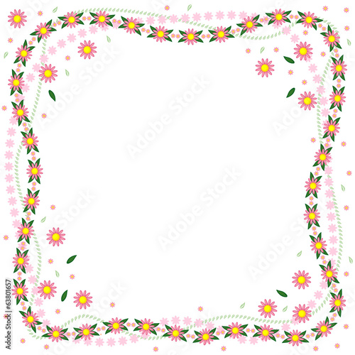 Greeting flowers frame