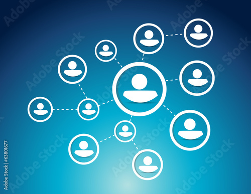 people network diagram illustration design
