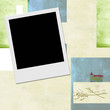 Instant photo frame Communion invitation background
