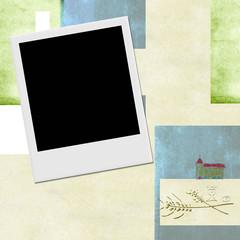 Instant photo frame Communion invitation background