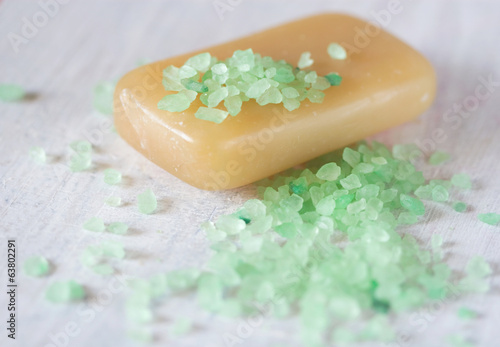 bath salt and organic soap
