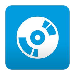 Etiqueta tipo app azul simbolo DVD
