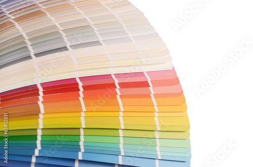 The color palette isolated on white