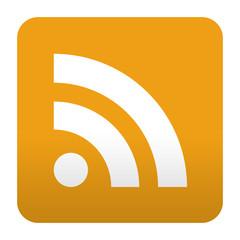 Etiqueta tipo app naranja simbolo RSS
