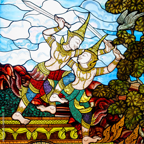 thai art stain glass