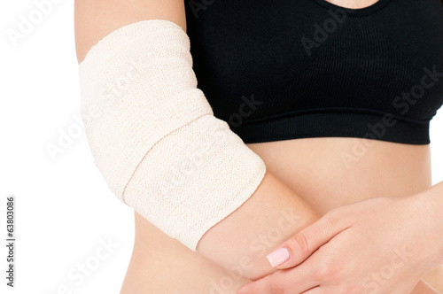 Close-up of bandaging