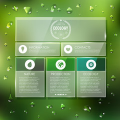 Website template design. Ecology background
