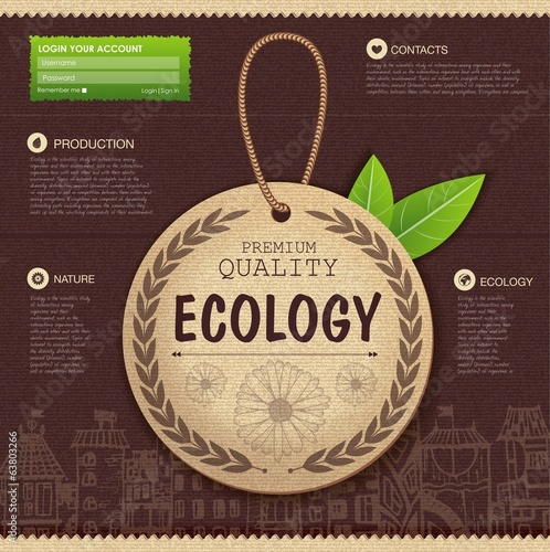 Web site design. Ecology background
