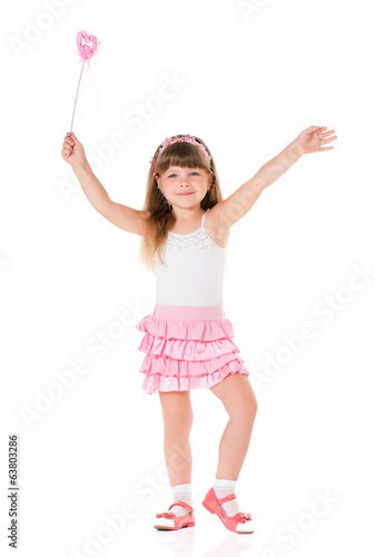 Girl with magic wand