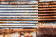 canvas print picture - rust zinc plate