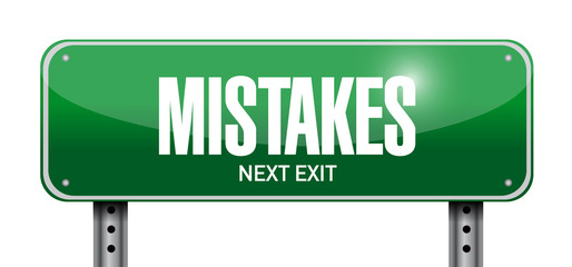 mistakes sign illustration design