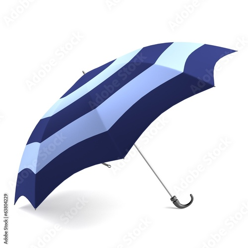 realistic 3d render of umbrella