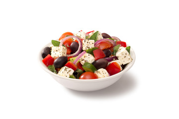 greek salad in a salad bowl