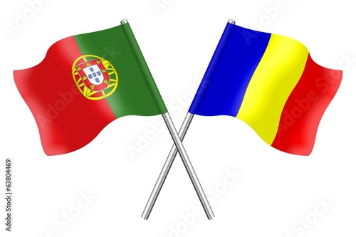 Flags: Portugal and Romania