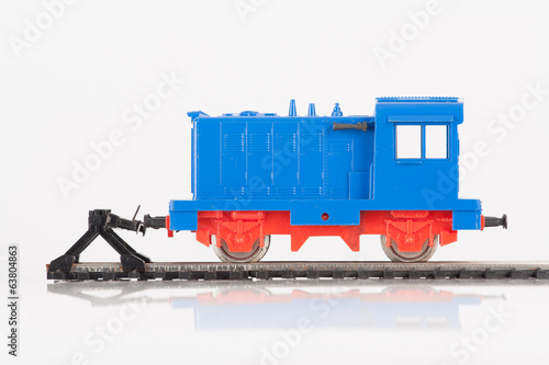 toy locomotive and buffer