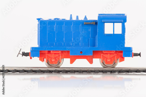 toy blue locomotive one