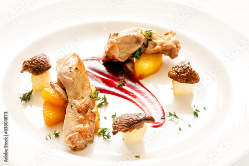 quail with berry sauce