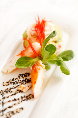 Kamchatka crab with salad