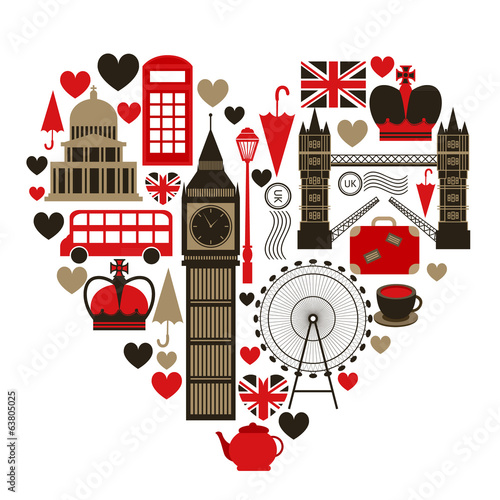Love London heart symbol