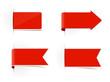 Schild Aufkleber Werbung rot