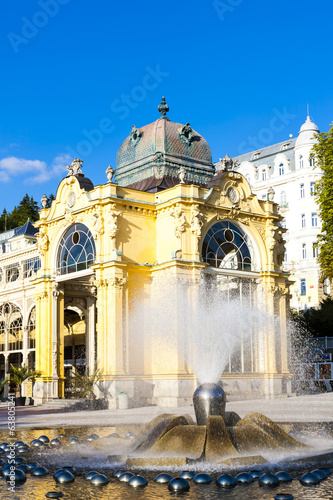 Colonnade with singing fountain, Marianske Lazne (Marienbad), Cz