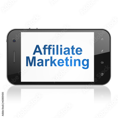 Finance concept: Affiliate Marketing on smartphone