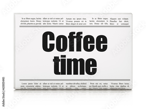 Time concept: newspaper headline Coffee Time