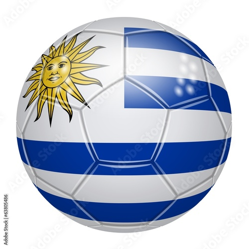 Soccer ball at the colors of Uruguay