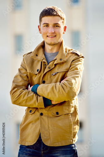 Handsome confident man with a friendly smile