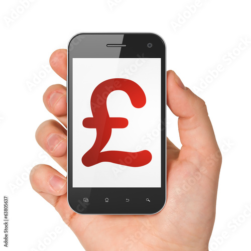 Currency concept: Pound on smartphone