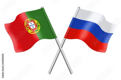 Flags: Portugal and Russia