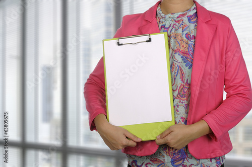 Woman Write In Paper
