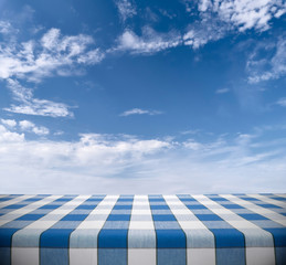 Tablecloth on Cloudy Sky