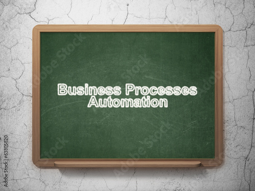 Business concept: Business Processes Automation on chalkboard