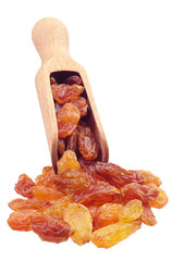 Scoop with raisins