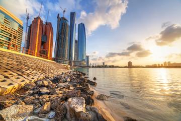 Abu Dhabi, the capital of United Arab Emirates at sunrise