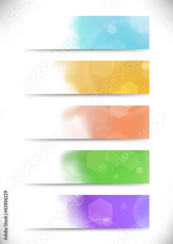 Modern bokeh abstract business cards set
