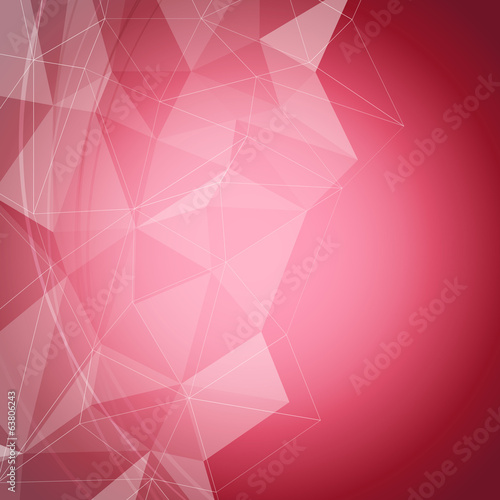 Red shiny crystal structure background