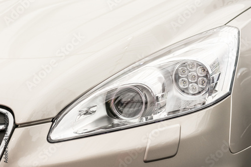 Car Head Light Close Up