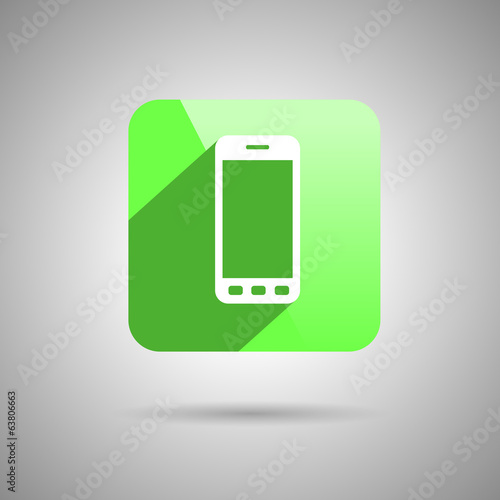 Phone Icon Symbol Flat Design