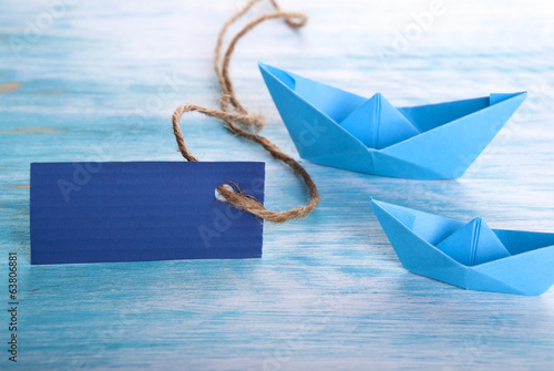 Empty Tag with Boats