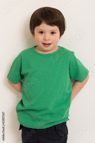 Boy in green t-shirt