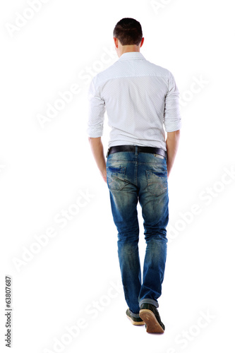 back view portrait of a man