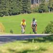 Zwei Rennrad-Sportler