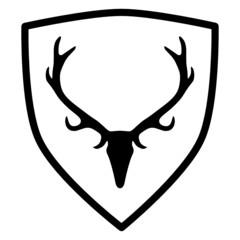 Wappen mit Geweih