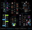 Timeline Infographic design templates Set 2 Black