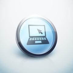 icône bouton internet ordinateur portable